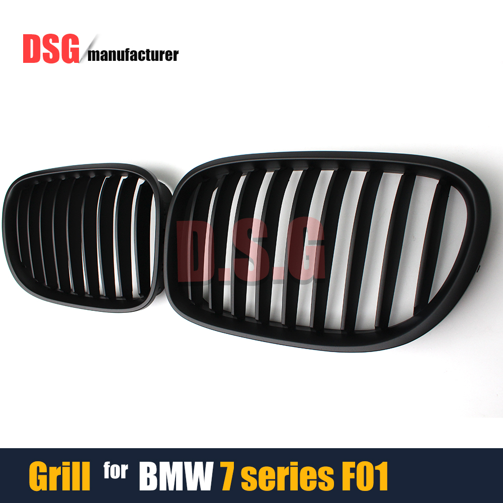 Replacement ABS Front Grill Bumper Grille for BMW 7 Series 4-Door Sedan F01 F02 F03 F04 Model Year 2010 - 2015 740i 740d 750i replacement bumper grill kidney grille front grid for bmw x5 e70 x6 e71 2007 2014 abs material replacement grid front hood