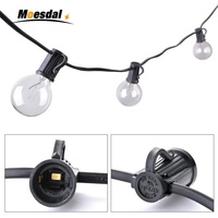 Moesdal Holiday Decoratio 25Ft 7 6M G40 Bulb Globe String Lights With Clear Bulb Patio Lights