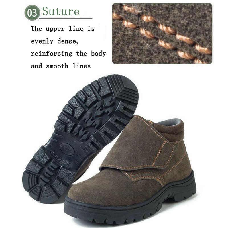 Güvenlik Ayakkabıları Kapağı Çelik Ayak Emniyet Ayakkabısı Botları Adam iş ayakkabısı Erkekler Su Geçirmez Boy Ayakkabı kışlık kıyafet dayanıklı DXZ022
