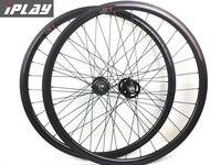 IPLAY carbono roda de engrenagem fixo 30 milímetros tubuless 3 k glossy estrada rodas de carbono engrenagem fixa rodado tubeless roda trilha 23mm largura