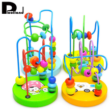 Children Colorful Wooden Mini Around Beads Educational Toy Montessori Funny Toys Kids Baby Bright Colors Toys Gift geometry shape wooden toys for baby kids funny montessori educational toy children s toys assembly baby toy