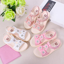 Toddler Infant Kids Baby Girls Flower Casual Flower Shoes Beach Sandals For Girls Summer Shoes Kids Bow Sandal 2019(China)