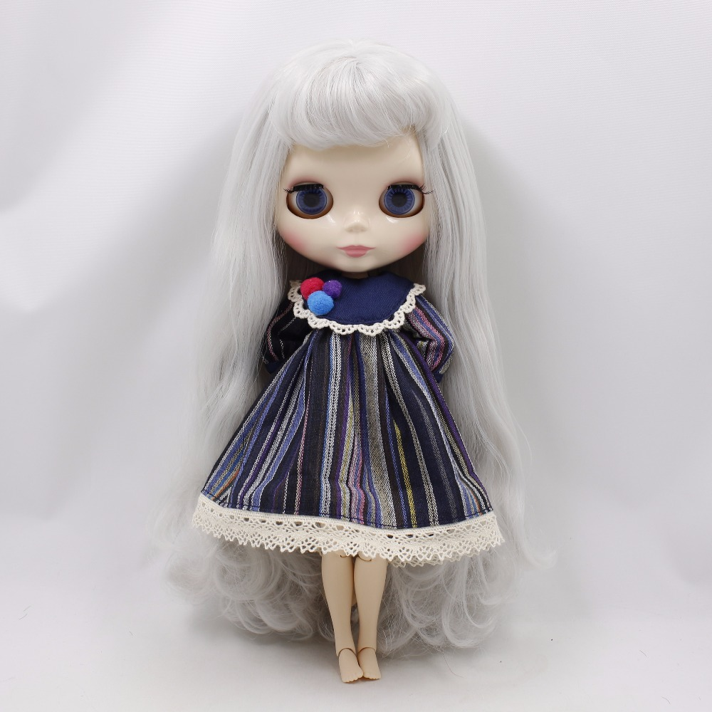 Neo Blythe Doll Stripe Printed Dress With Bowknot 7