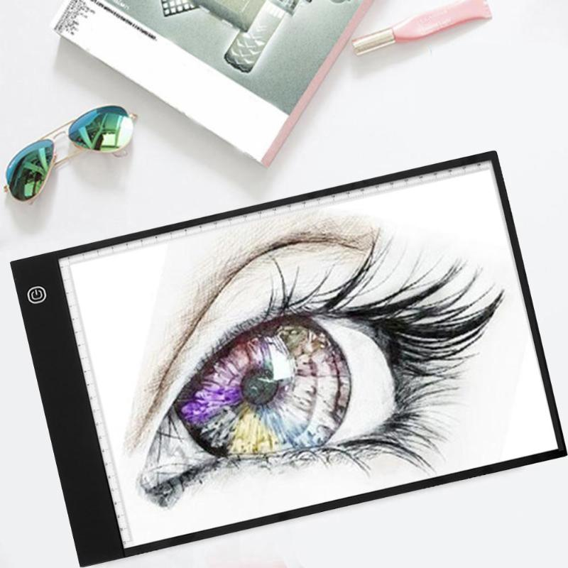 Digital A4 LED Graphic Tablet Writing Painting Drawing Tablet Tracing Panel Luminous Stencil Board Display LED Copy Pad Box wrumava ultra thin a4 led writing painting light box tracing board copy pad drawing digital tablet artcraft copy table led board