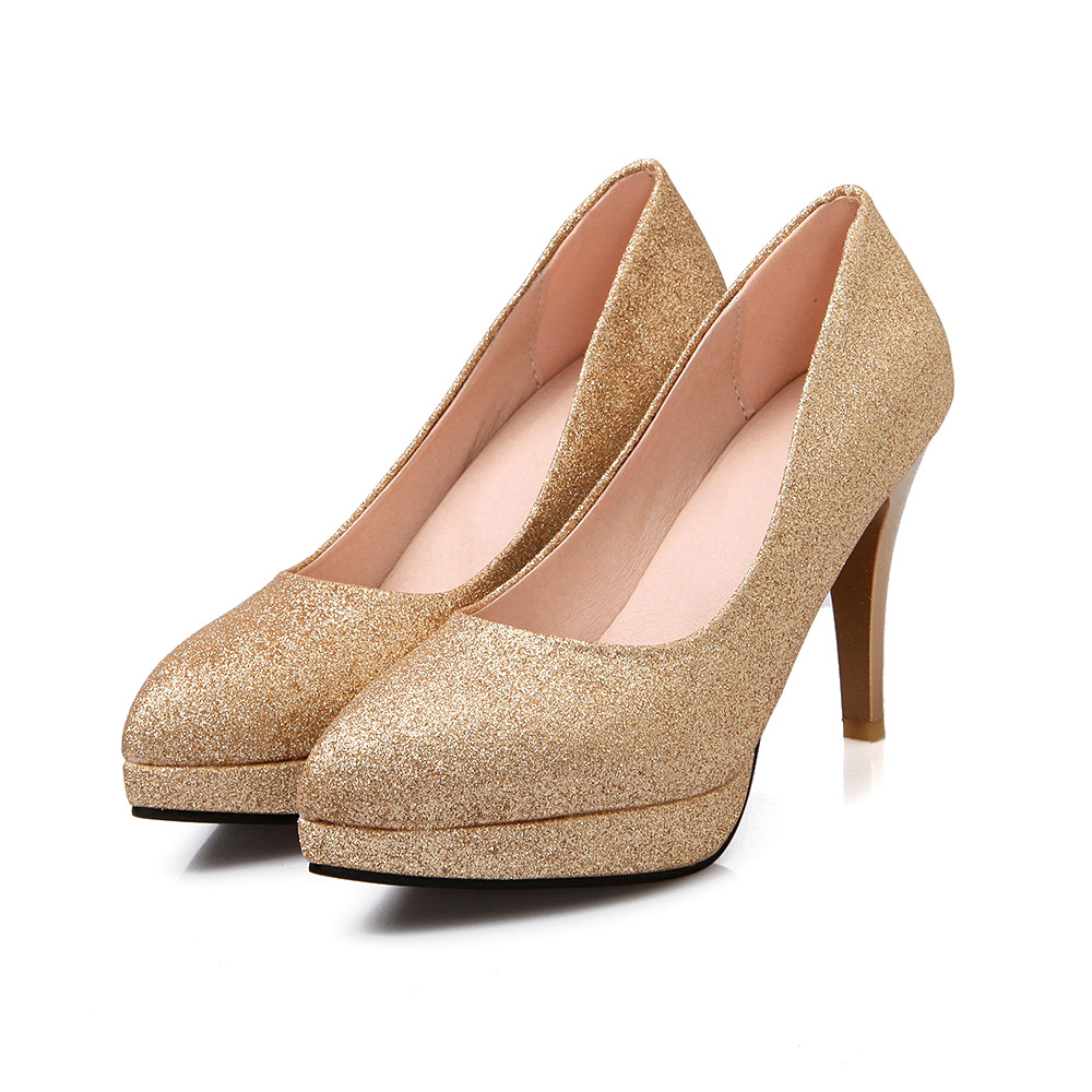 Popular Gold Pumps Heels-Buy Cheap Gold Pumps Heels lots from