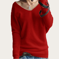Ms 2014 New Winter Cashmere Pullover Bottoming Loose Long Sleeved V Neck Shirt Korean Bat Sweater