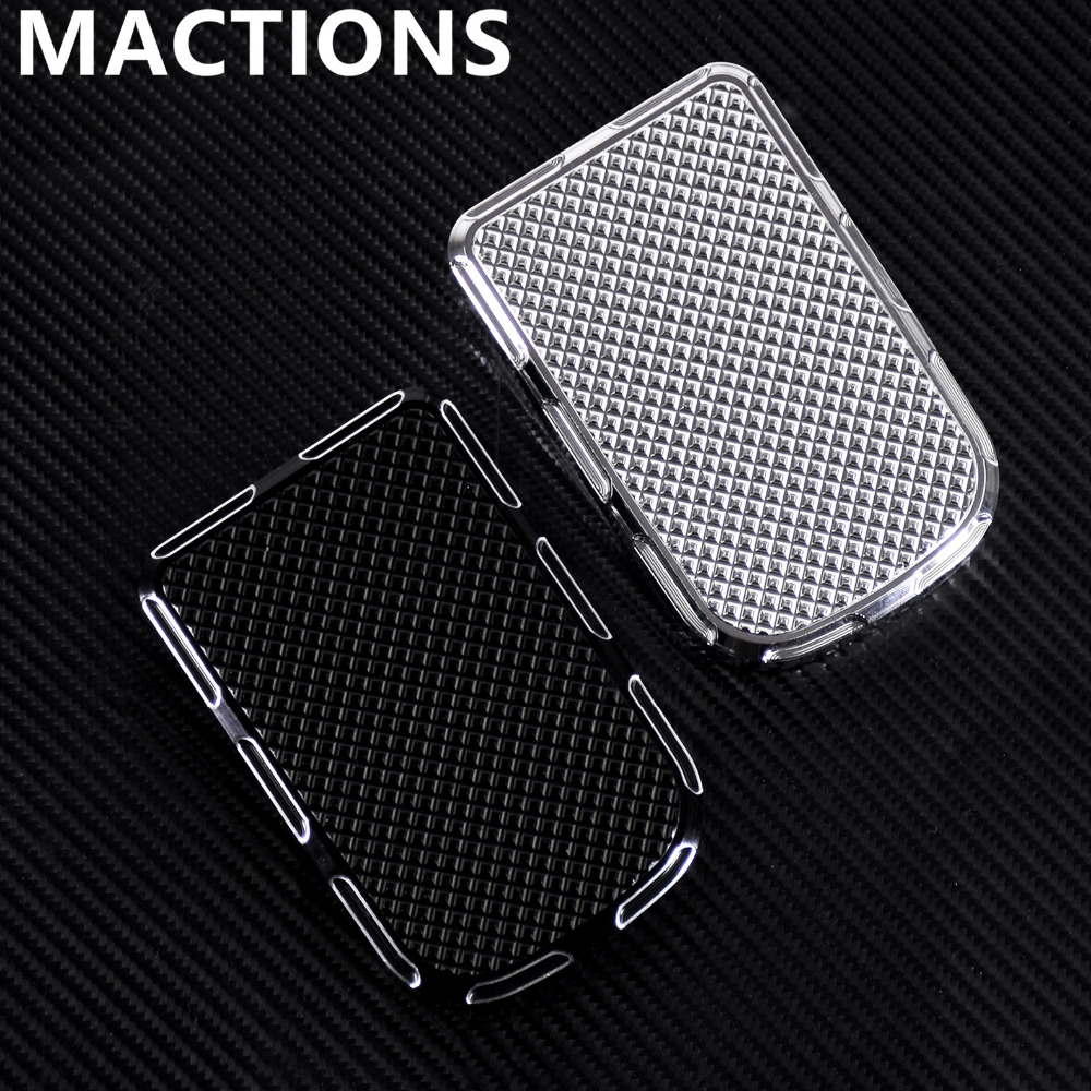 Motorcycle Large Brake Pedal Pad Cover Black/Chrome Aluminum For Harley For Softail Fat Boy 1986-2014 2015 2016 2017