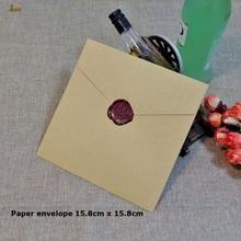 50ชิ้น/ล็อต15.8/12.7 /10ซม.สแควร์คราฟท์Multicolorธรรมดาเชิญกระดาษตกแต่งงานแต่งงานซองจดหมายขายส่งจัดส่งฟรี