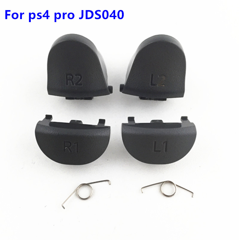 For Playstations 4 JDS 040 JDM 040 Controller Trigger Spring L1 R1 L2 R2 Repair Parts Buttons For PS4 Pro Triggers Button 10 Set yuxi bumper triggers buttons replacement plastic