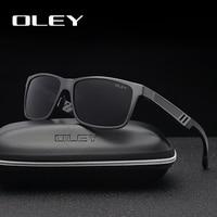 OLEY для мужчин поляризационные солнцезащитные очки для женщин алюминий магния Защита от солнца очки вождения прямоугольник