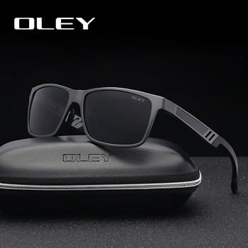 OLEY الرجال الاستقطاب النظارات الشمسية الألومنيوم المغنيسيوم نظارات شمسية نظارات للقيادة مستطيل للرجال/ومي Oculos masculino الذكور