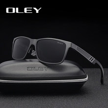 4b6b05659 OLEY los hombres gafas de sol polarizadas de aluminio y magnesio, gafas de  sol de gafas de conducir rectángulo para hombres/muje.
