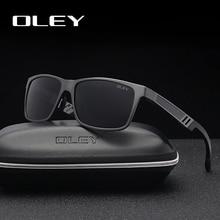 OLEY Men Polarized Sunglasses Aluminum Magnesium Sun Glasses