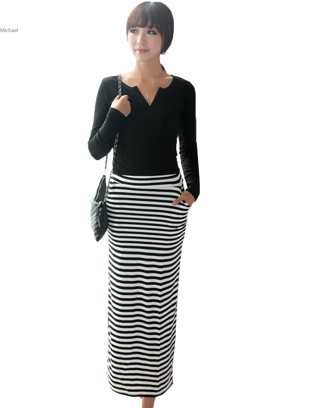 Long Striped Skirt Promotion-Shop for Promotional Long Striped ...