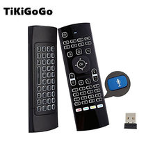 Tikigogo air mouse backlit MX3 pro with voice microphone 2.4G wireless mini keyboard with IR learning extend remote controller(China)