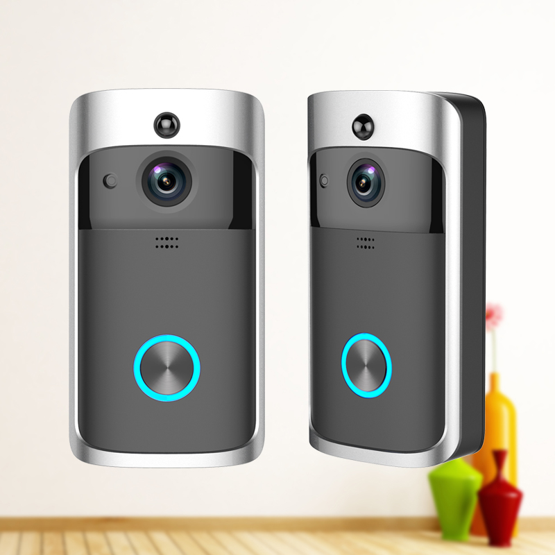 LINGANZH Wireless Video Doorbell WIFI Remote Intercom Detection Electronic HD Visible Monitor Night Vision