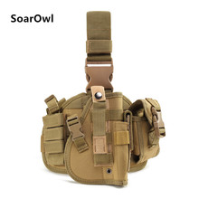 Tactical holster tactical equipment outdoor hunting multifunctional tying waist pistol protective cover pockets