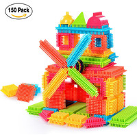 Kid Fun Toy Christmas Gifts 150 120 100pcs Bristle Shape 3D Building Blocks Tiles Construction Playboards