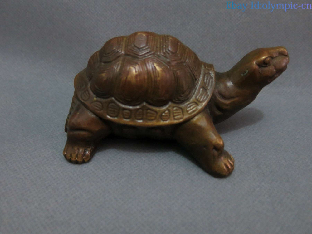 China Feng Shui Brass Copper Carved Longevity Turtle Sculpture Statue China Feng Shui Brass Copper Carved Longevity Turtle Sculpture Statue
