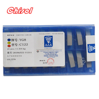 free shipping ZCC.CT 20pcs/box C122 YT5 YW2 YW1 YT15 YT14 YG6 YG8 carbide brazed inserts welding tips blade cutter cutting tools