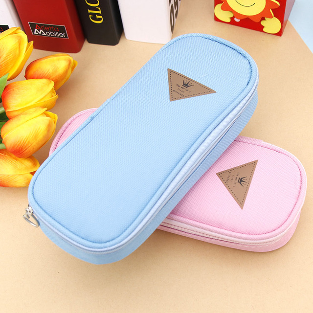 ISKYBOB Cute Pen Bag Case Holder Storage Fashion Candy Colors Pencil Case School Supplies Student Gift Cosmetic Makeup Bag Cosmetic Bags