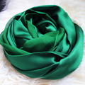 [SLKSCF] 190X120CM Fashion Patchwork silk crepe satin scarves solid colour silk chiffon scarf real silk sunscreen pashmina