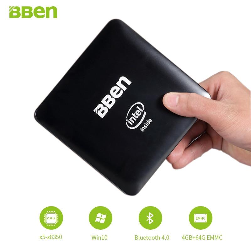Bben-Mn11 Mini PC computer box , with intel z8350 cpu, 4GB/64GB EMMC , or 2GB/32GB ,LAN WIFI windows10 mini pc bben windows10