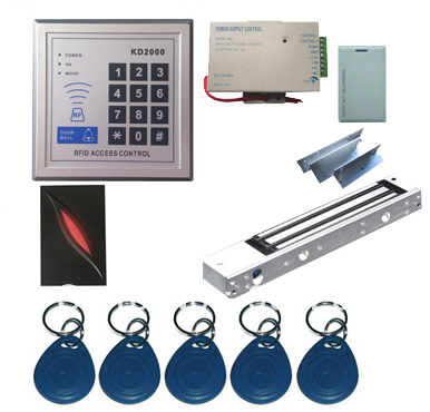 New Upgrade 3,000 Users Complete Standalone RFID Door Access Control System Kit with Maglock metal rfid em card reader ip68 waterproof metal standalone door lock access control system with keypad 2000 card users capacity