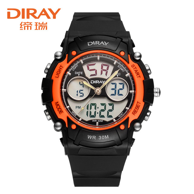 DIRAY Top Brand Luxury Digital Watch Fashion Waterproof Display Digital Watch Men Watch LED Watches Hour relogio masculino