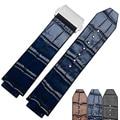 25*19mm de Alta Calidad correas de estilo retro de Cuero Genuino Correa de Reloj con plegable Hebilla del Despliegue envío gratis
