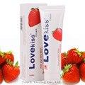 Love kiss strawberry cream lubrificante sexo anal 100 ml lubrificante lubrificação vaginal oral silk touch produtos do sexo óleo de massagem