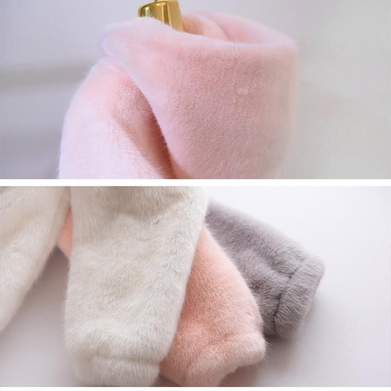 Veste Lapin Mode Imitation White Rex Chaud De Coréenne Femmes gray Nouvelle Survêtement Couleur Wk234 Fourrure 2019 Manteau Court Solide Hiver Style pink 46zwBWxE