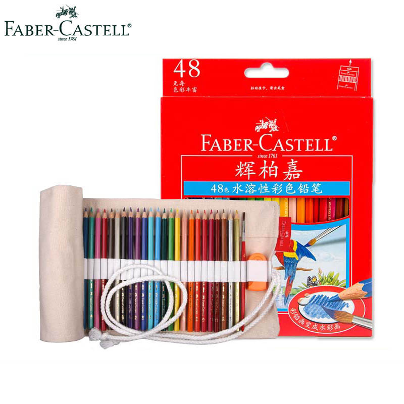 Faber Castell 48 Premier Water-Soluble Water Colored Pencils Professional Gorjuss Art Drawing Pencil for Blending and Layering gorjuss 4 40
