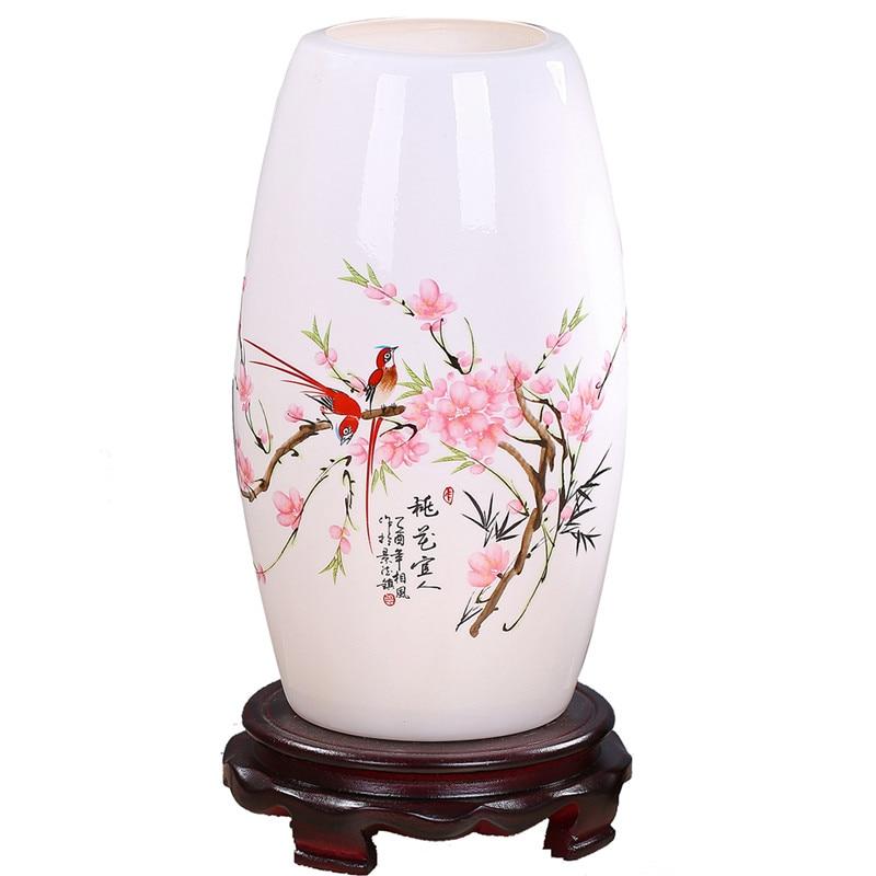 Modern Chinese Porcelain Table Lamps Fashion Bedroom Bedside Lamp E27 110V-220V Holder Ceramic Reading Desk Lights TLL-432 vintage style porcelain ceramic desk table lamps for bedside chinese blue and white porcelain chinese table lamp