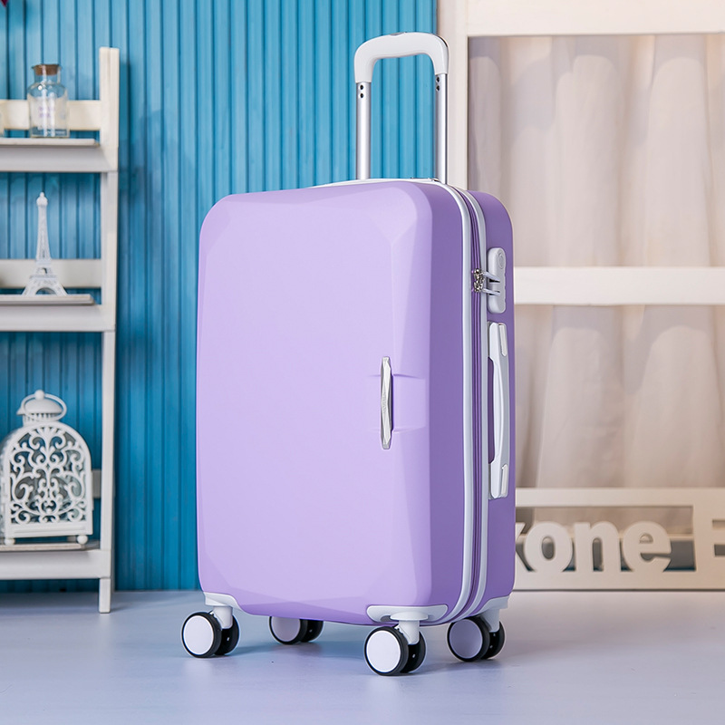 New 24-inch ABS rod box universal wheel suitcases children boarding students box multicolor pure color suitcase 1580#