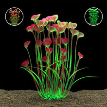 Petforu New 40cm Butterfly Shape Plastic Artificial Aquarium Plant Decoration Fish Tank Decorative Plant Grass Ornament 3 Color(China)