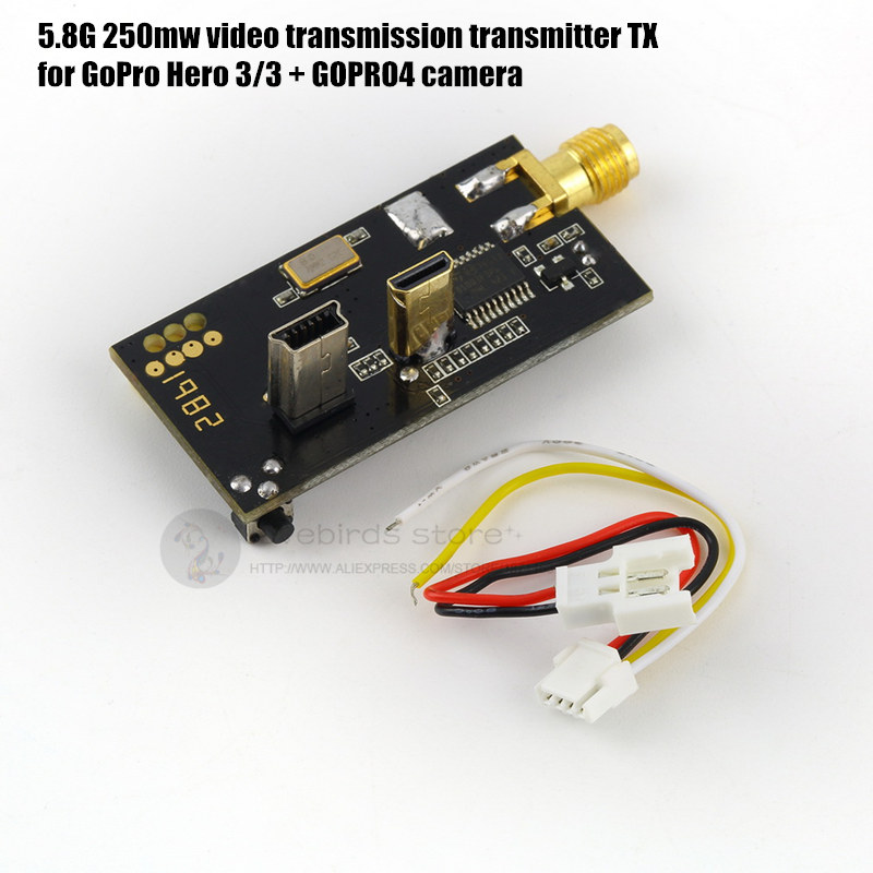 L250 5.8G 250mw video transmission transmitter TX for GoPro Hero 3/3 + GOPRO4 camera DIY FPV drone with camera