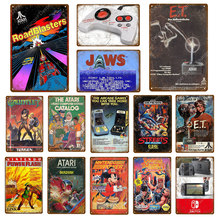 Classic Video Game Comics Poster Play Gaming Metal Tin Signs For Kids Room Game Center Home Decor Vintage Gamer Plaque(China)