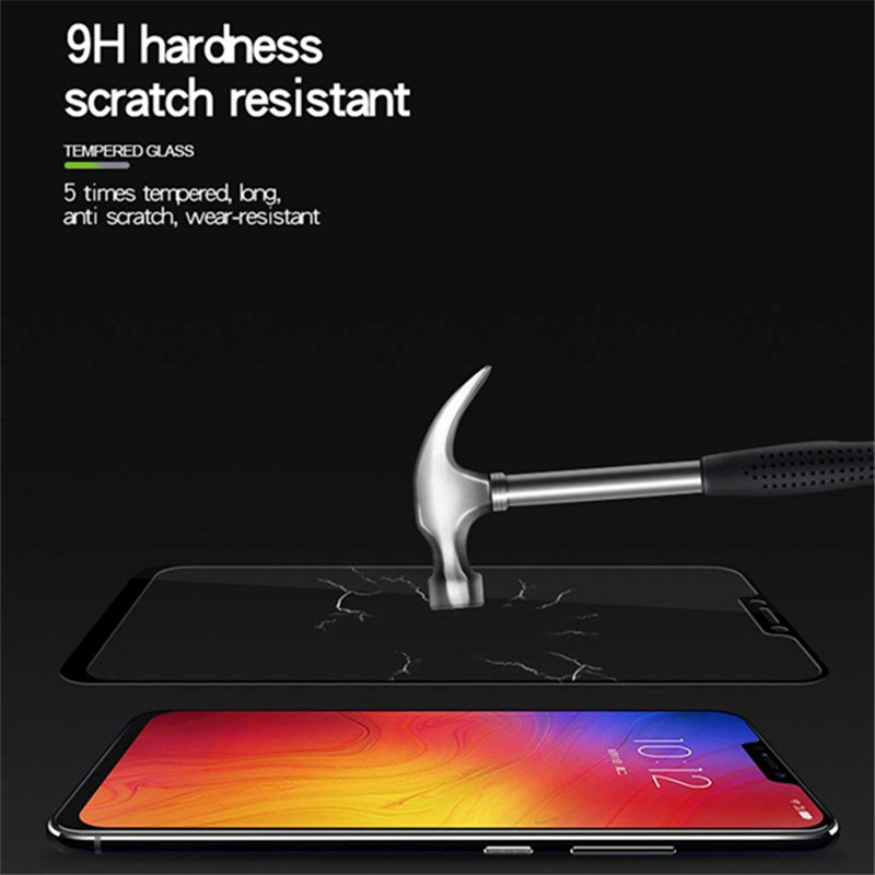 Full cover Tempered Glass For Lenovo Z5 screen protective smartphone clear frame all edges 9H toughened black display in Phone Screen Protectors from Cellphones Telecommunications