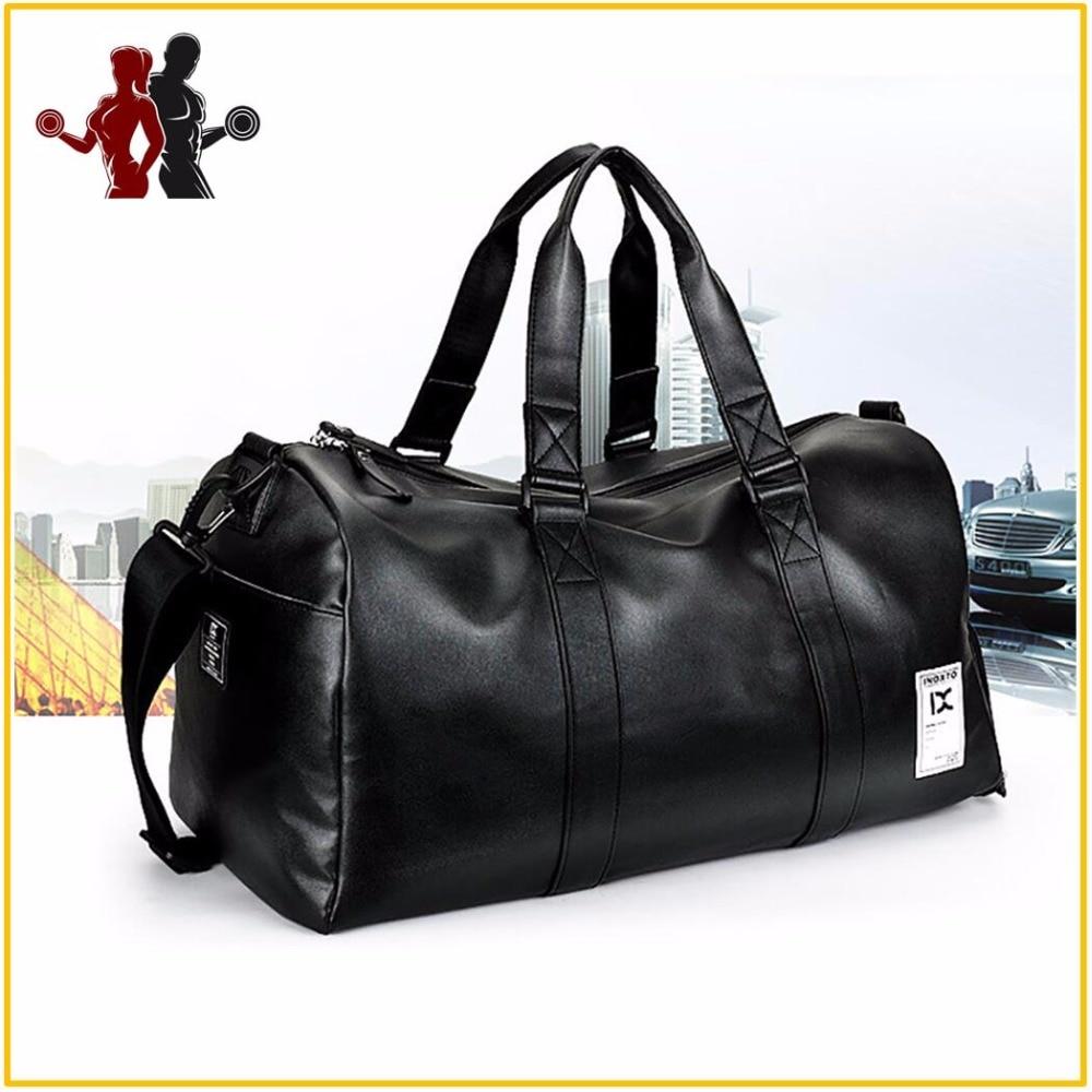 507fe44a22 High Quality PU Leather Sports Bags Gym Bags Man Women Classic Sports  HandBag Fitness Travel Bags