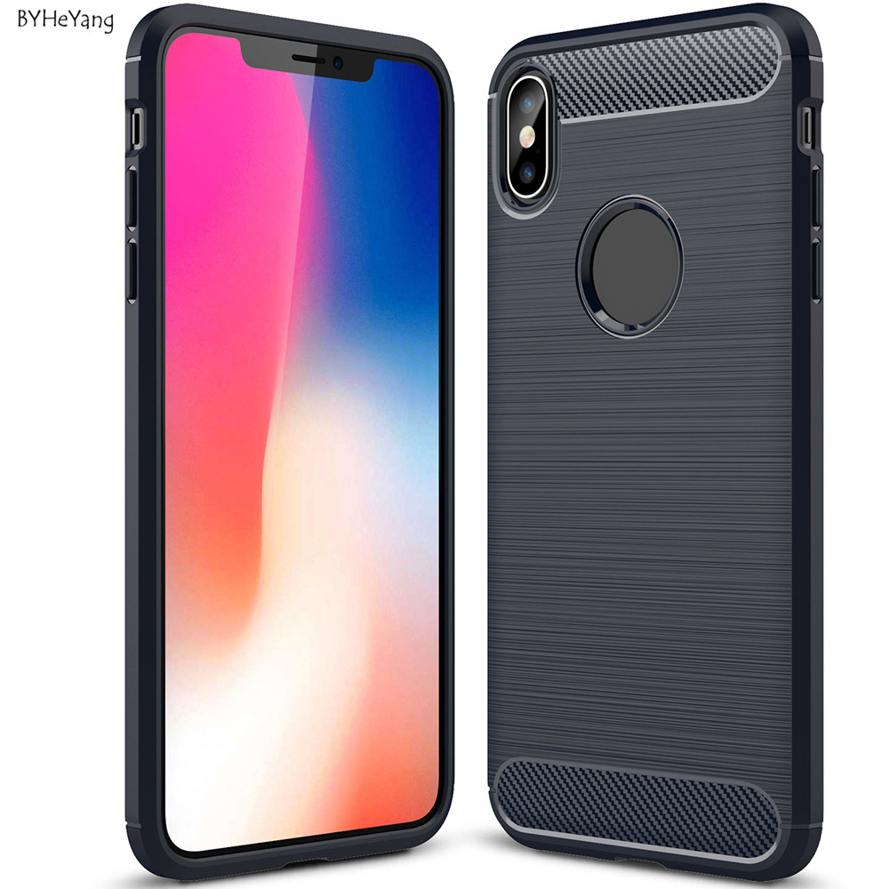 for iphone xs max case carbon fiber cases for apple iphone xs max 6 5 inch soft tpu back phone