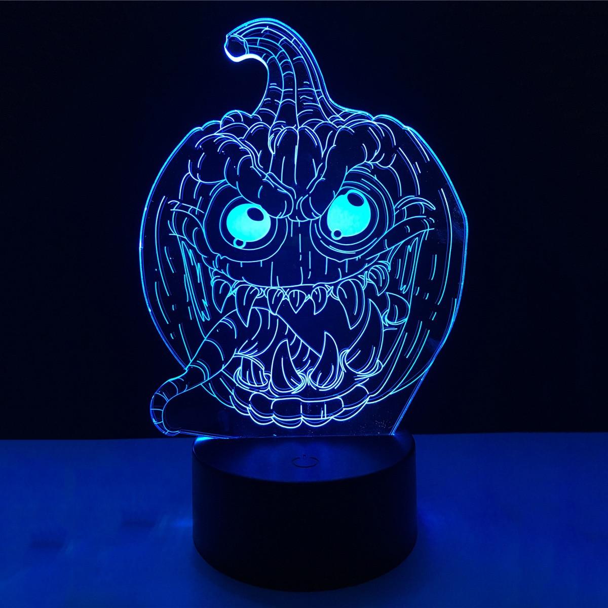 Christmas Decoration 3D Pumpkin Acrylic LED Lamp 3D Baby Night Light Sleeping Lighting For Children Night Light Xmas New Years