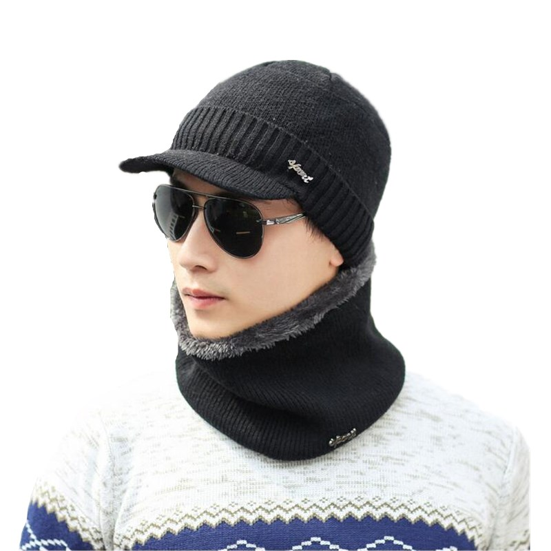 Brand OZyc Winter Wool Ski Hats Neck Warmer Beanies Knit Men's Hats Caps Skullies Bonnet For Men Women Balaclava Head Caps