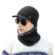 Marka oZyc zimowe z wełny czapki narciarskie szyi cieplej czapki z dzianiny męskie kapelusze czapki Skullies czapki dla mężczyzn kobiety kominiarka czapki tanie tanio Wełna Unisex Dla dorosłych Na co dzień x526 Stałe Skullies czapki Goods in stock Knitted hat Spring Winter 55-60cm