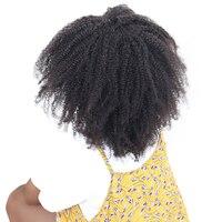 Монгольский афро кудрявый вьющиеся 13x4 Накладные пряди на кружеве для передней части головы Накладные волосы с ребенком волос предваритель...