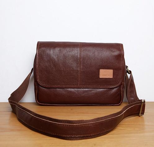 LANSPACE Men's Leather Messenger Bag Fashion  Japan  Leather Shoulder Bag