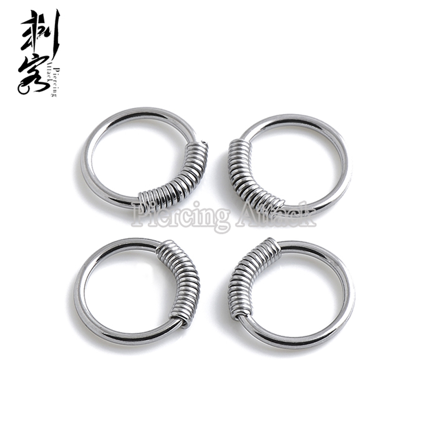 Steel Spring Wire Captive Ring BCR Body Piercing Jewelry-in Body ...