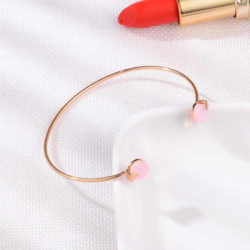 อุปกรณ์เสริม Trendy คริสตัลพระเจ้า silver double - layer Tie ลูกศรวงกลม 4 ชิ้นชุดเปิดสร้อยข้อมือสำหรับเครื่องประดับสตรีกำไลข้อมือ