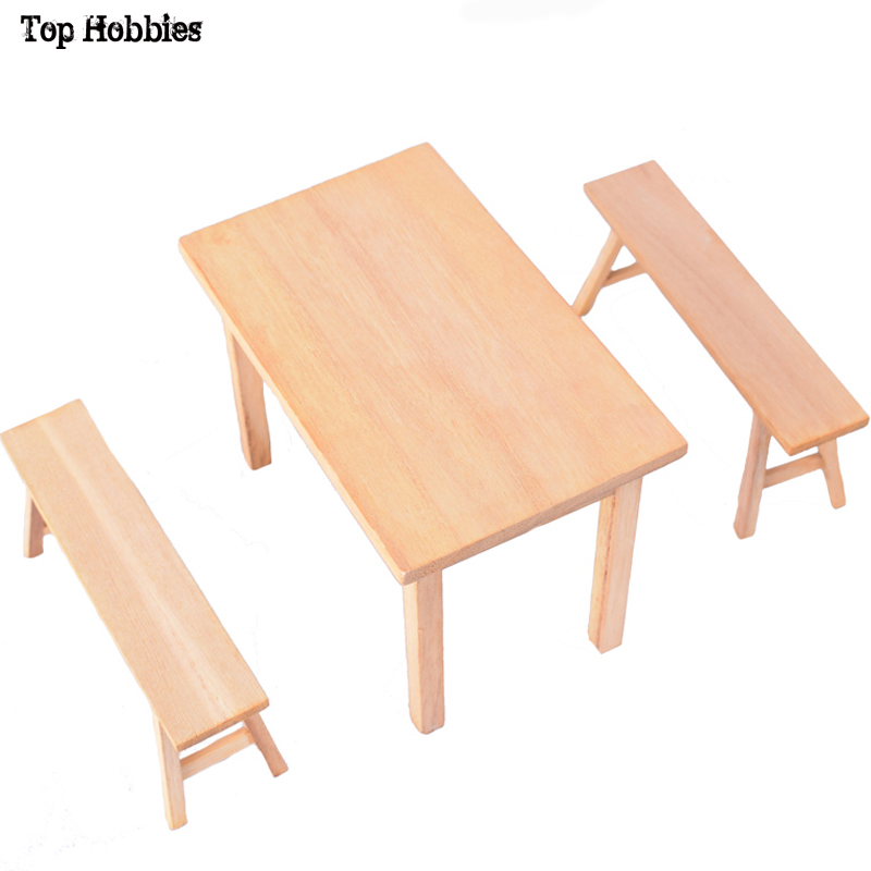 Wwi Greman Wooden Table Bench Toys Model 1 6 Scale Scene Accessories Long Desk Furniture Set Wood F 12 Inch Figure