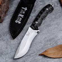 Brand Hunting Fixed Knife With 440c Blade Metal Wiredrawing Craft  Portable Handle Pocket Tactical Survival Knives Camping Tool
